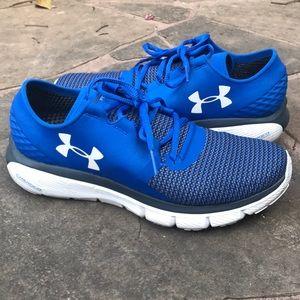 Blue Under Armour athletic shoes